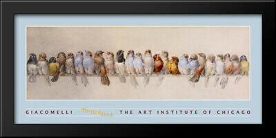 Hector Giacomelli - The Bird Perch 40x20 Framed Art Print by Hector Giacomelli