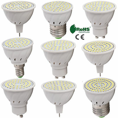 GU10 MR16 E26 E27 LED Spotlight Bulb 2835 SMD 4W 5W 6W Lamp Bright 110V 220V 12V
