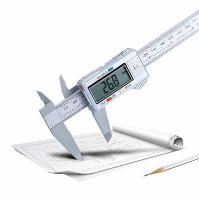 150mm/6inch Digital Electronic LCD Steel Stainless Ruler Gauge Caliper Durable