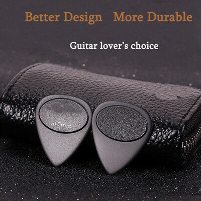 10Pcs 0.7mm Guitar Pick Plectrum Acoustic Electric Toughness Anti Slip Design