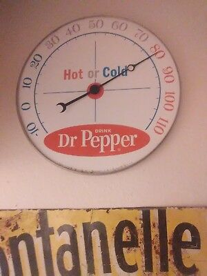 Vintage Dr. Pepper thermometer. Hot or Cold. Advertising.