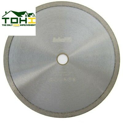 CONTINUOUS RIM DIAMOND BLADE Tile Cutting 10 in Wet Tile Saw Premium Quality NEW