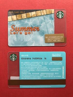 CS1849 2018 China Starbucks coffee Summer Pool Party Gift card ¥100 1pc