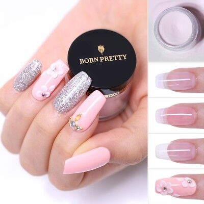 10ml BORN PRETTY Acrylic Powder Nail Art Tips Extension Pink White Clear Color