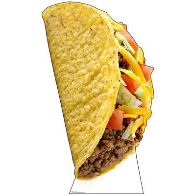 GIANT TACO 6-Foot-Tall CARDBOARD CUTOUT Standup Standee Poster Mexican Food Prop