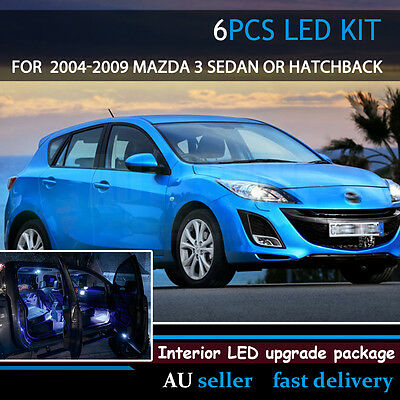 For Mazda 3 2004-2009 Upgrade Car Interior Plate LED Light Replacement Kit White