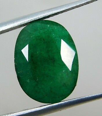 Natural 6.70 Ct Oval Cut Colombian Loose Emerald Gemstone. 10756 LR