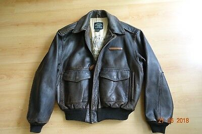 Avirex A2 US Army Air Forces Ed Overend Aero Fliegerjacke Leather Flying Jacket