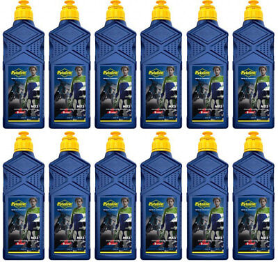 PUTOLINE MX5 SYNTHETIC PREMIUM RACING 2 STROKE OIL 1 LITRE  ( 12 pack ) 70272