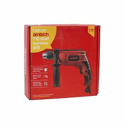 Heavy Duty Hammer Impact Drill 710W SDS Plus Masonry Corded Electric Chuck 13mm