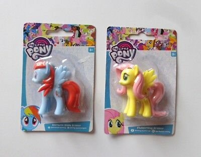 My Little Pony Rainbow Dash + Fluttershy Radiergummis Hasbro NEU!!! in OVP!!!