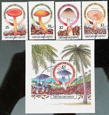 Grenada Grenadines 1986 Sc # 762 to Sc # 7766 Mini Sheet Mint CTO Stamps Set