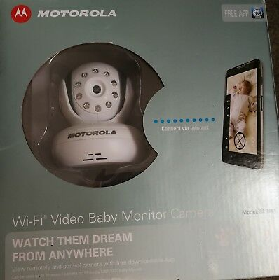 Motorola WiFi Remote Digital Video Baby Monitor Camera IMMACULATE! Complete box!