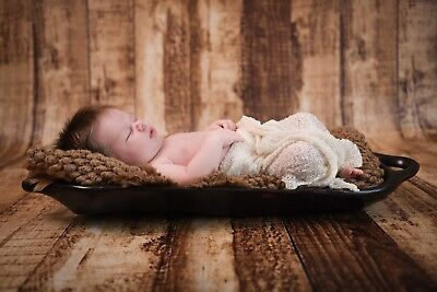 Newborn Baby Photography Wooden Bowl Prop