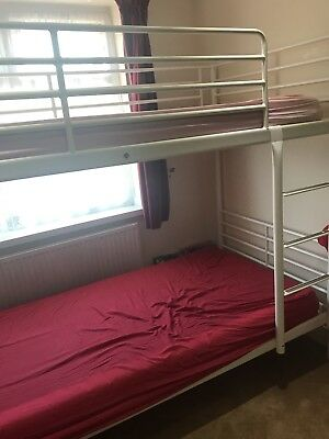 White Ikea Bunk Beds Flam Design Metal In Good Condition