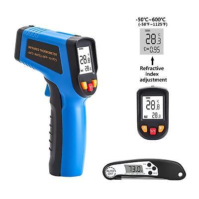 Digital IR Infrared Laser Gun Thermometer Temperature Heat Sensor w/ Meat Thermo