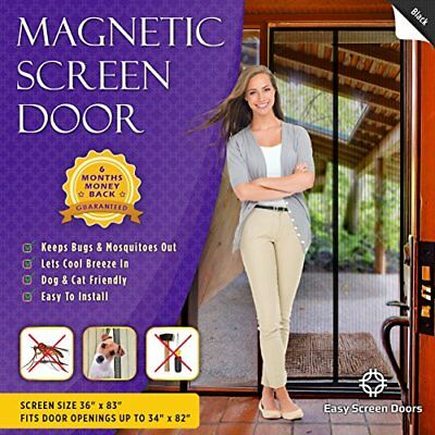 Full Frame Magnetic Screen Door,-Keeps Bugs Out-Toddler And Pet Friendly-34x82..