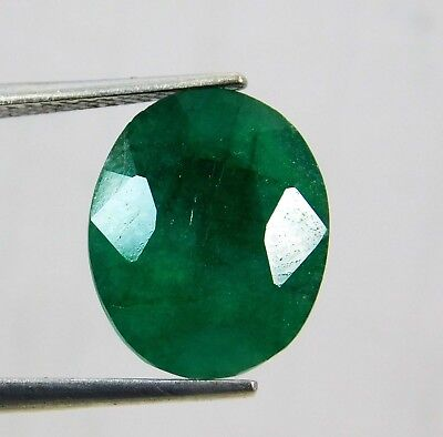 Natural 6.90 Ct Oval Cut Colombian Loose Emerald Gemstone. 10740 VG