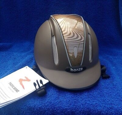 Horze Pacific Defenze Ventilated Adjustable Safety Horse Riding Helmet Brown S/M