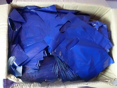 Pack of 500 Small Blue Carrier Bags 20cm x 15cm