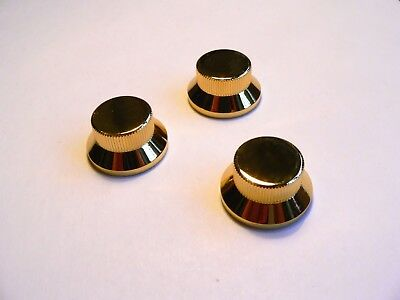 Gold Metal tone and volume knob set for Fender Stratocaster Strat guitar knobs