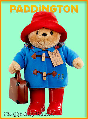 New Large Paddington Bear Plush Soft Toy With Suitcase & Boots Superb Quality
