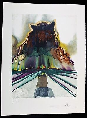 SALVADOR DALI Lithographie GALA Four Dreams of Paradise SIGNIERT 1973 Arches