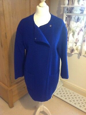 Benetton Felted Wool Cocoon Jacket Size M