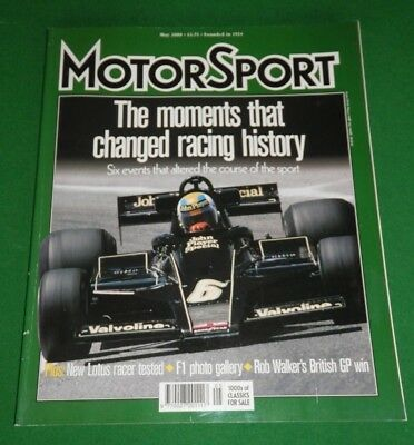 MOTOR SPORT magazine May 2000 - Key F1 moments, Dave Richards, Malcolm Campbell