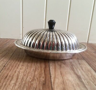 A Beautiful Falstaff Silver Plated Butter/Preserve Dish Glass Liner.