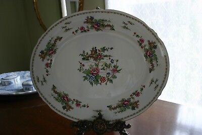 "Crown Staffordshire Large Platter "" Pagoda"" MINT!!"