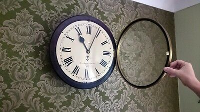 ANTIQUE WALL CLOCK  WW2 British Army Smiths Type II White Dial Bakelite .1945
