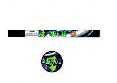 ALIEN O.G 100 ml Cali Tin Labels (16 Stickers)*Best Quality*