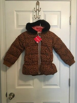 Hanna Anderson Girl's Winter Coat Down Filled Animal Print NWT Size 110