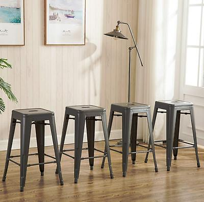 Super 26 Inch Backless Metal Counter Height Bar Stools Set Of 4 Unemploymentrelief Wooden Chair Designs For Living Room Unemploymentrelieforg