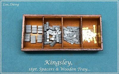 Kingsley Machine ( 18pt. Spacers & Wooden Tray ) Hot Foil Stamping Machine