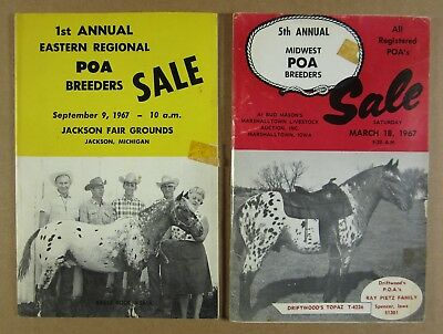 1967 POA Pony of the Americas Breeders Sale Catalog LOT OF 2 iowa & michigan