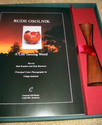 """Rude Osolnik Limited Box Set """"A Life Turning Wood"""" Autographed With Candlestick"""