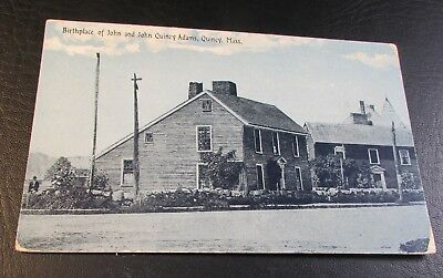Old Postcard<QUINCY, MASSACHUSETTS>{BIRTHPLACE OF JOHN QUINCY ADAMS}