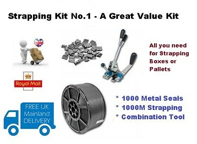 Heavy Duty Pallet  Box Strapping  Banding Kit Pack 001 - * Great Value *