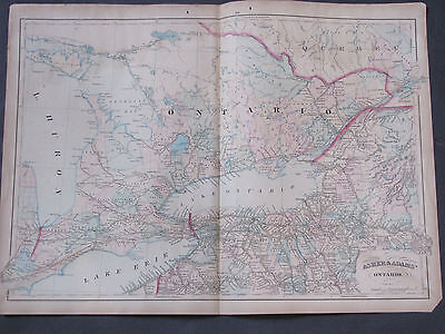 1873 Asher and Adams Ontario Map