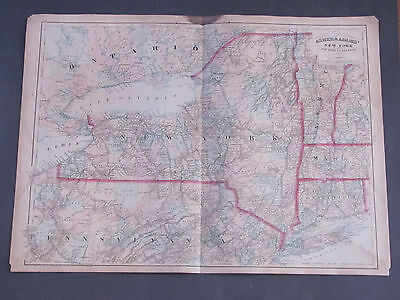 1873 Asher and Adams New York Map