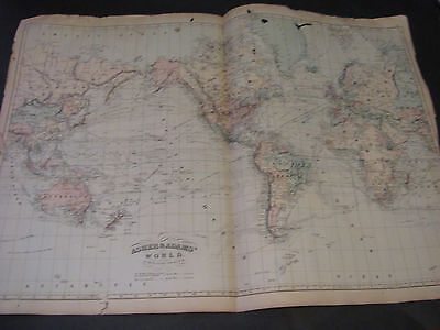 1873 Asher and Adams World Map
