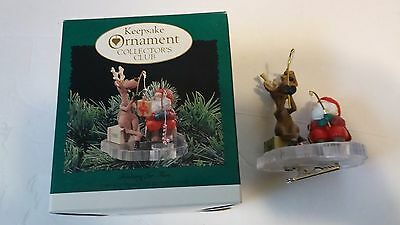 Hallmark Keepsake Christmas Ornament 1995 Collectors Club FISHING FOR FUN