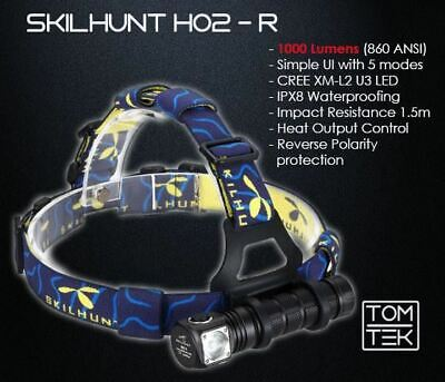 Skilhunt H02R 1000 Lumens Headlamp Torch Flashlight Camping LED FREE EXPRESS