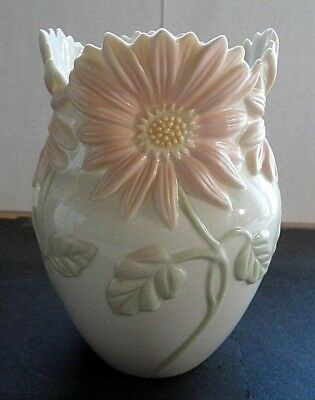 Vintage Lenox Floral Blossoms Collection Gerbera Daisy Oval Vase Very Pretty