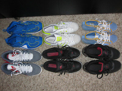 Lof of 6 pairs of Men's Nike Penny, Jordan and Adidas Shoes in Sizes 13 & 14!!!