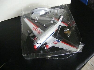 Diecast DC-3 Pepsi Cola Airplane Bank New in Box w/Stand and Key