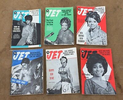 Vintage Jet Magazines Lot Of 6, 1967