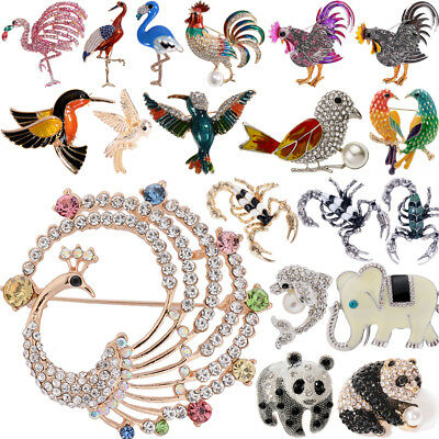 Femme Mode Cristal Strass Papillon Animal Bouquet Broche Broche Bijoux Décor Lot